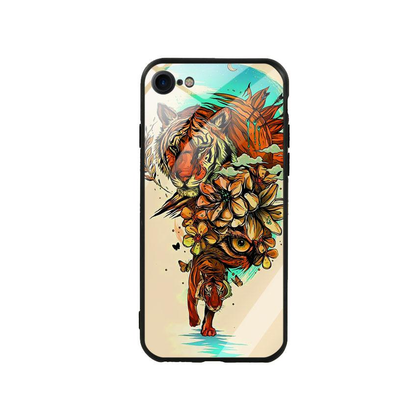 Ốp Lưng Kính Cường Lực cho điện thoại Iphone 7 / 8 - Tiger 05