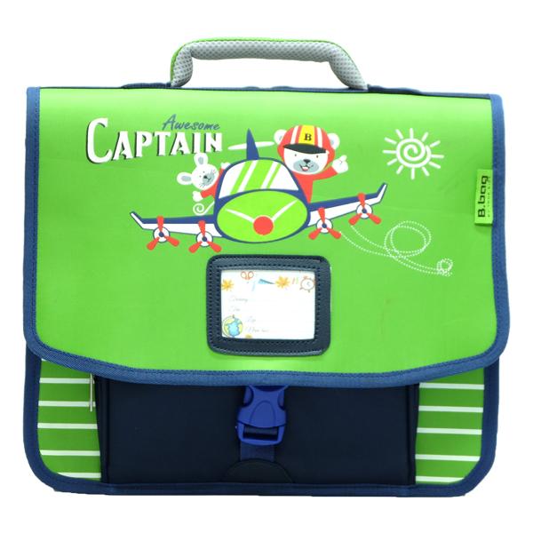 Cặp Học Sinh B.BAG Captain C-12-022 - Xanh Lá (33.5 x 30 x 10.5 cm)