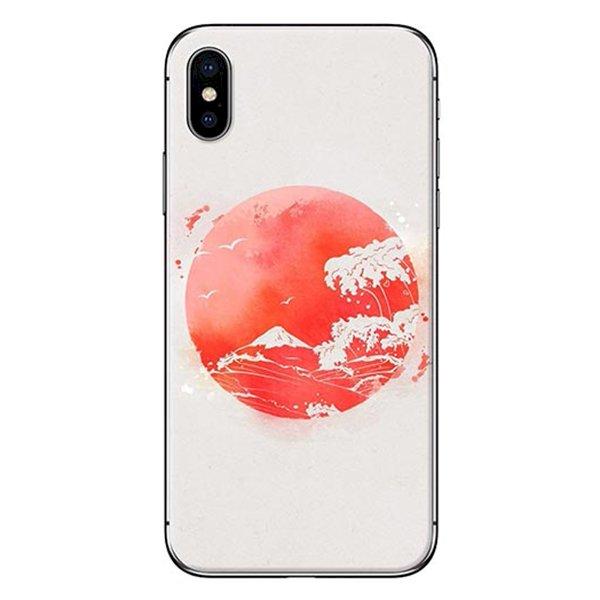Ốp Lưng Dành Cho iPhone X - Mẫu  Mặt Trăng Đỏ
