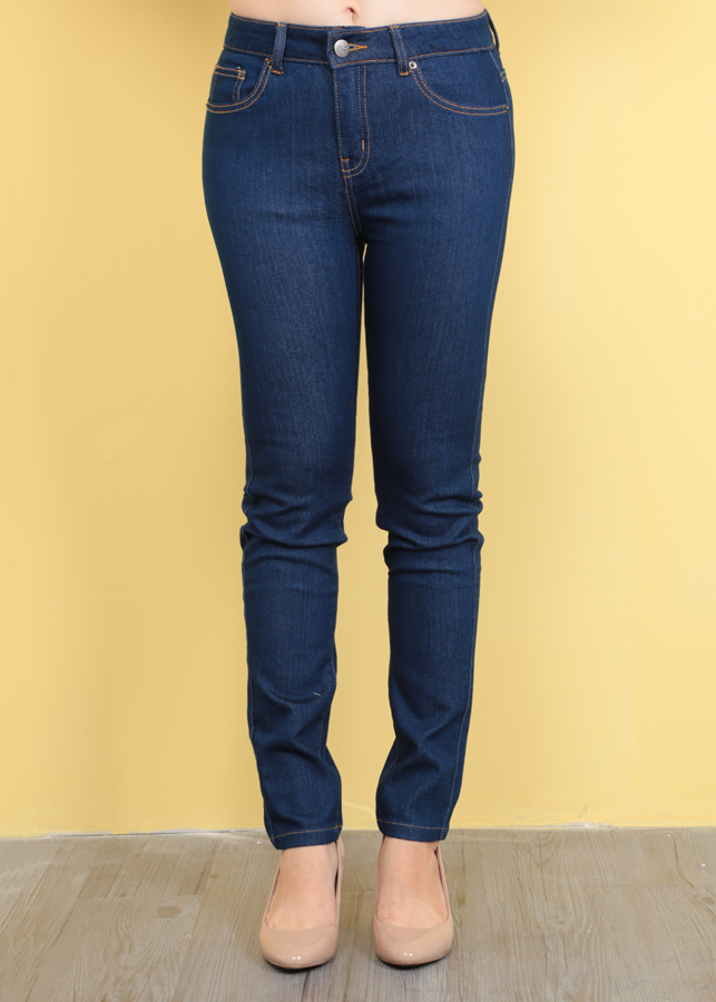Quần Jeans Nữ Dài 002 - Xanh Đậm