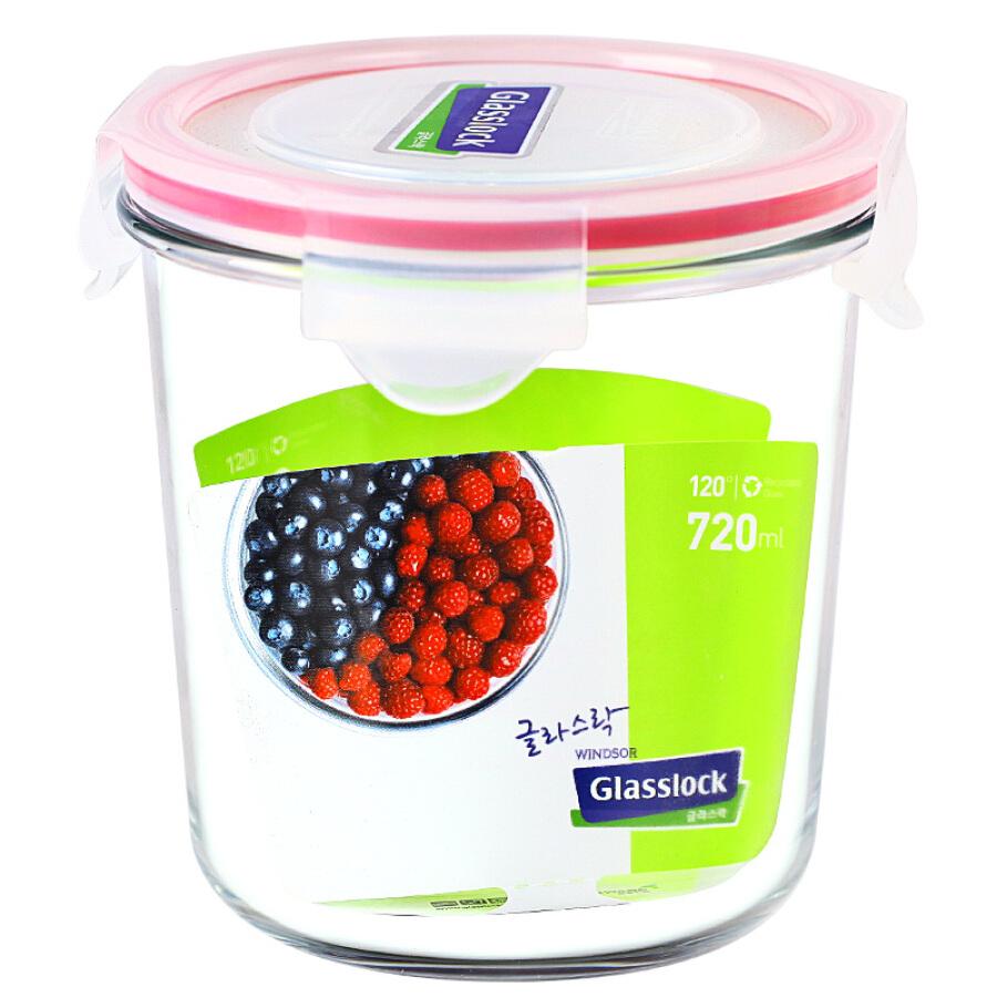 Glasslock Korea imported tempered glass round storage box heat-resistant microwave lunch box baby milk powder tank deep MCCD072/720ml - 1656033 , 3985902812289 , 62_9190057 , 231000 , Glasslock-Korea-imported-tempered-glass-round-storage-box-heat-resistant-microwave-lunch-box-baby-milk-powder-tank-deep-MCCD072-720ml-62_9190057 , tiki.vn , Glasslock Korea imported tempered glass round
