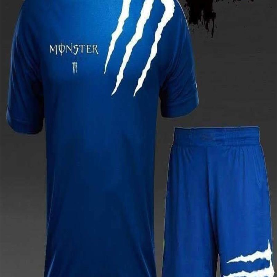 Bộ quần áo thể thao nam mùa hè Monster chất vải cực mát