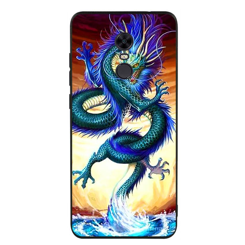 Ốp lưng nhựa cứng viền dẻo TPU cho điện thoại Xiaomi Redmi 5 Plus -Dragon 10