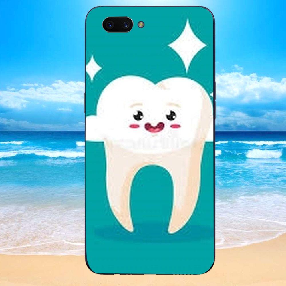 Ốp điện thoại dành cho máy Oppo Realme C1 - chiếc răng cute MS CRCT017-1-Hàng Chính Hãng Cao Cấp