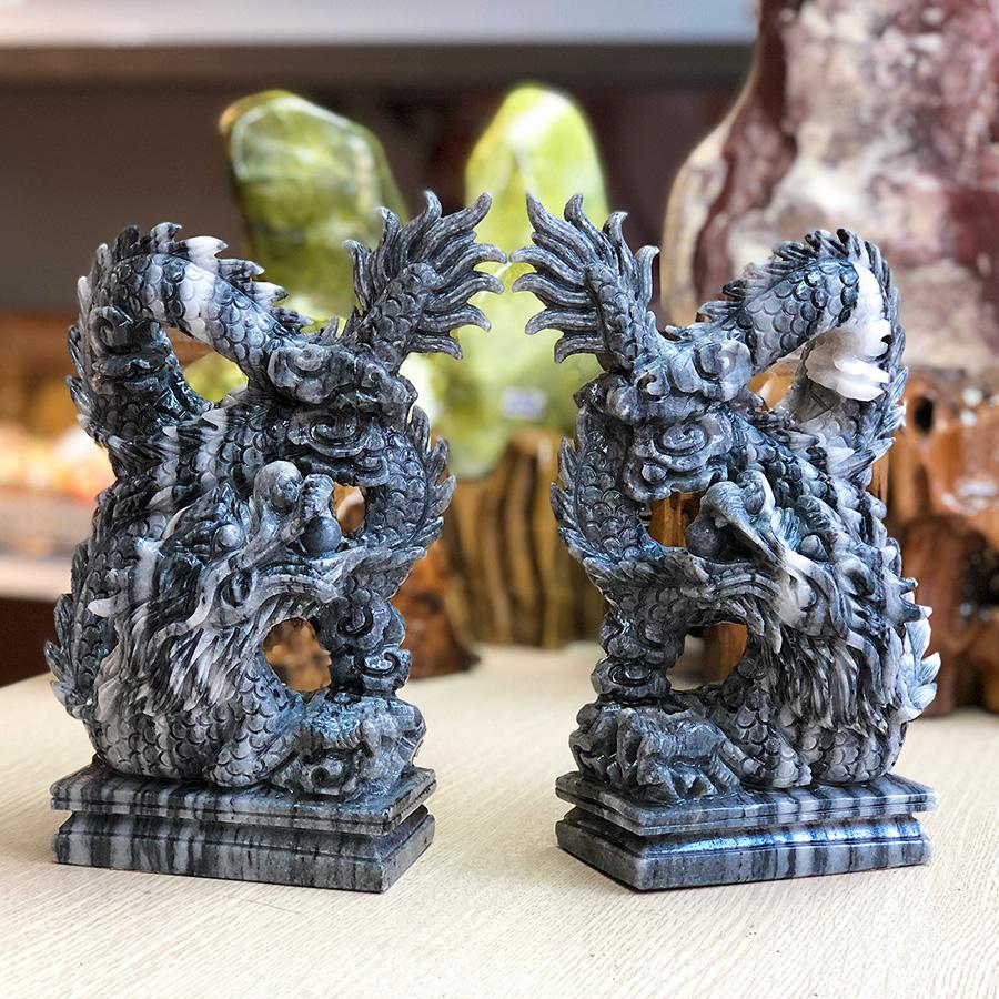 Tượng Rồng phong thủy đá tự nhiên - Roxi