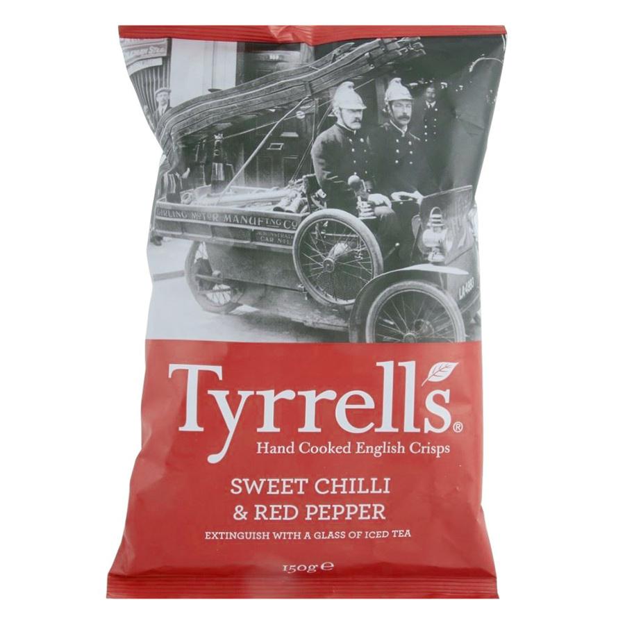 Khoai Tây Chiên Tyrrells Sweet Chilli Red Pepper Hand Cooked Crips (150g) - 915062 , 5060042641413 , 62_1751395 , 104000 , Khoai-Tay-Chien-Tyrrells-Sweet-Chilli-Red-Pepper-Hand-Cooked-Crips-150g-62_1751395 , tiki.vn , Khoai Tây Chiên Tyrrells Sweet Chilli Red Pepper Hand Cooked Crips (150g)