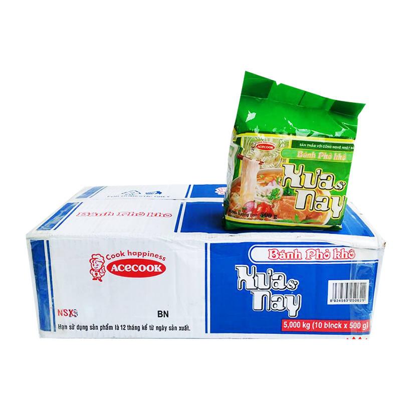 Thùng 10 Gói Bánh Phở Khô Xưa  Nay Acecook (500g/Gói)