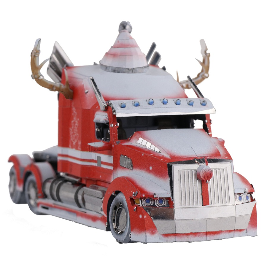 Đồ chơi lắp ghép mô hình kim loại MU Transformers - Xe tải Western Star Optimus Prime (Phiên bản Giáng sinh)