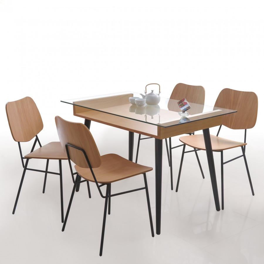 Bộ bàn ăn gia đình BBA001
