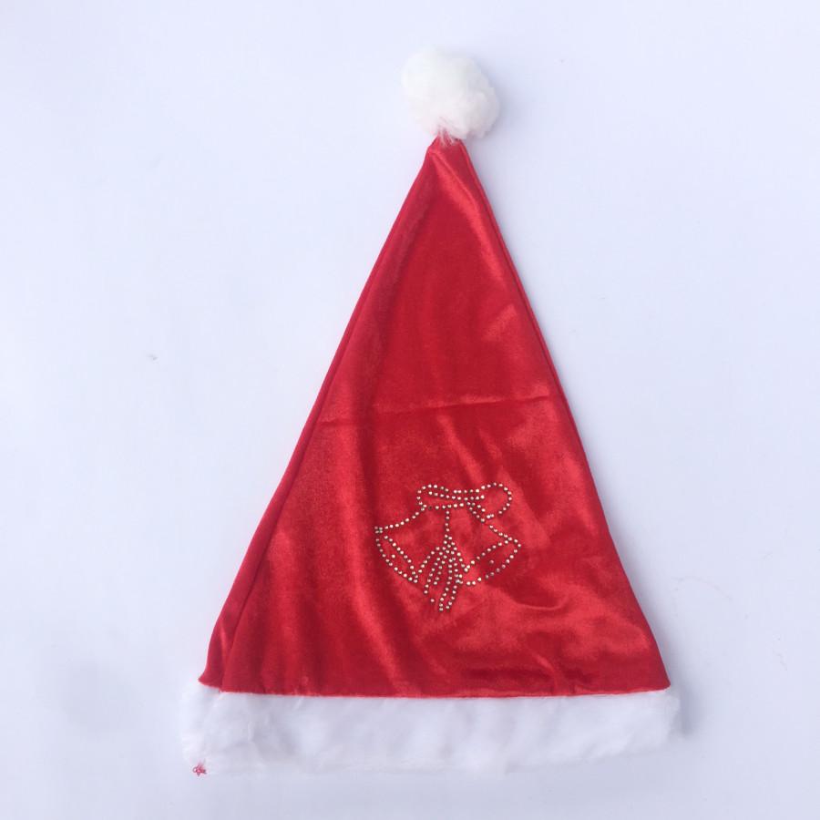 Mũ Noel nhung chuông cỡ nhỏ dành cho bé từ 2-6 tuổi