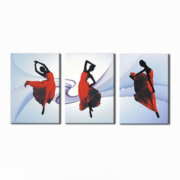"""Bộ 3 Tranh Trang Trí """"Dancing"""" - W203"""