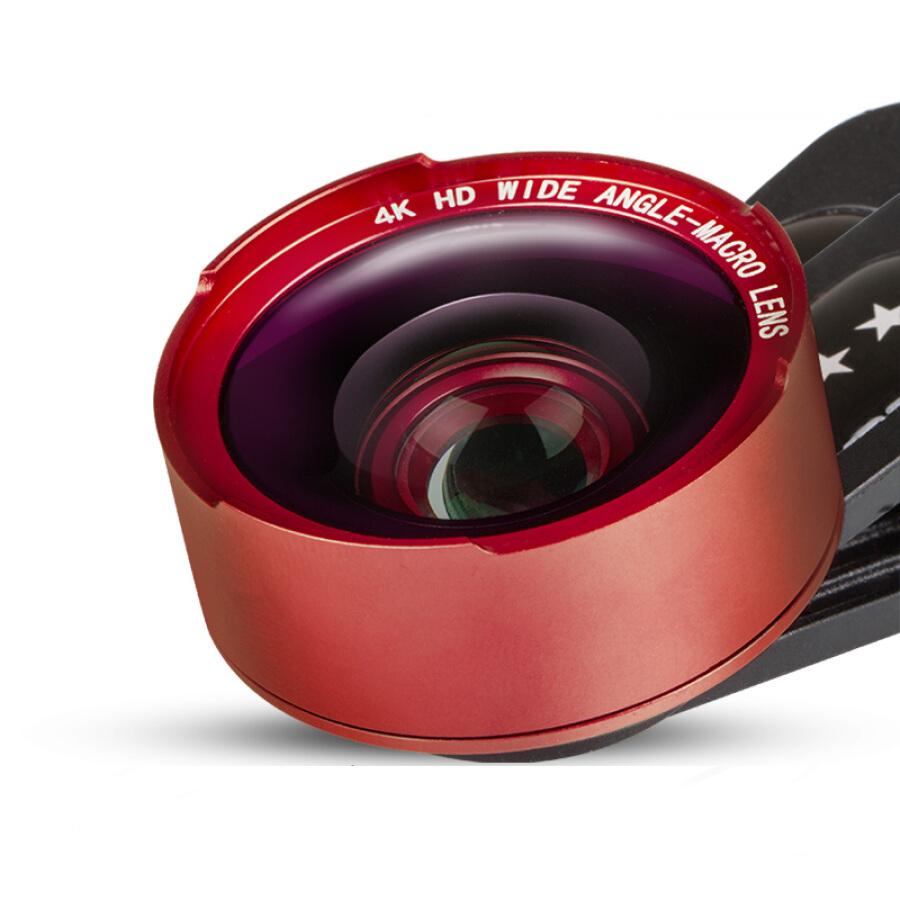 Lens Điện Thoại 3 Trong 1: Macro, Mắt Cá, Góc Rộng 5 Lớp Thấu Kính HD CC