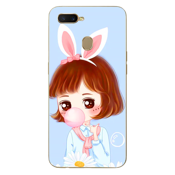 Ốp lưng dẻo cho điện thoại Oppo A7 - Baby Girl 03
