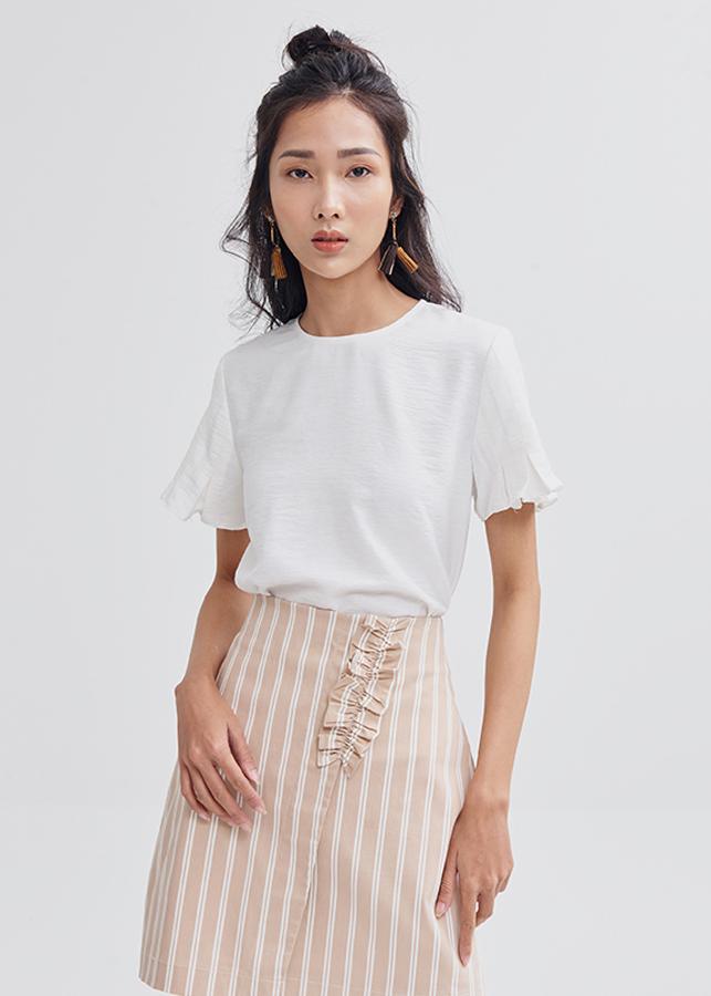 Áo cổ tròn nữ tay ngắn li hợp Marc Fashion