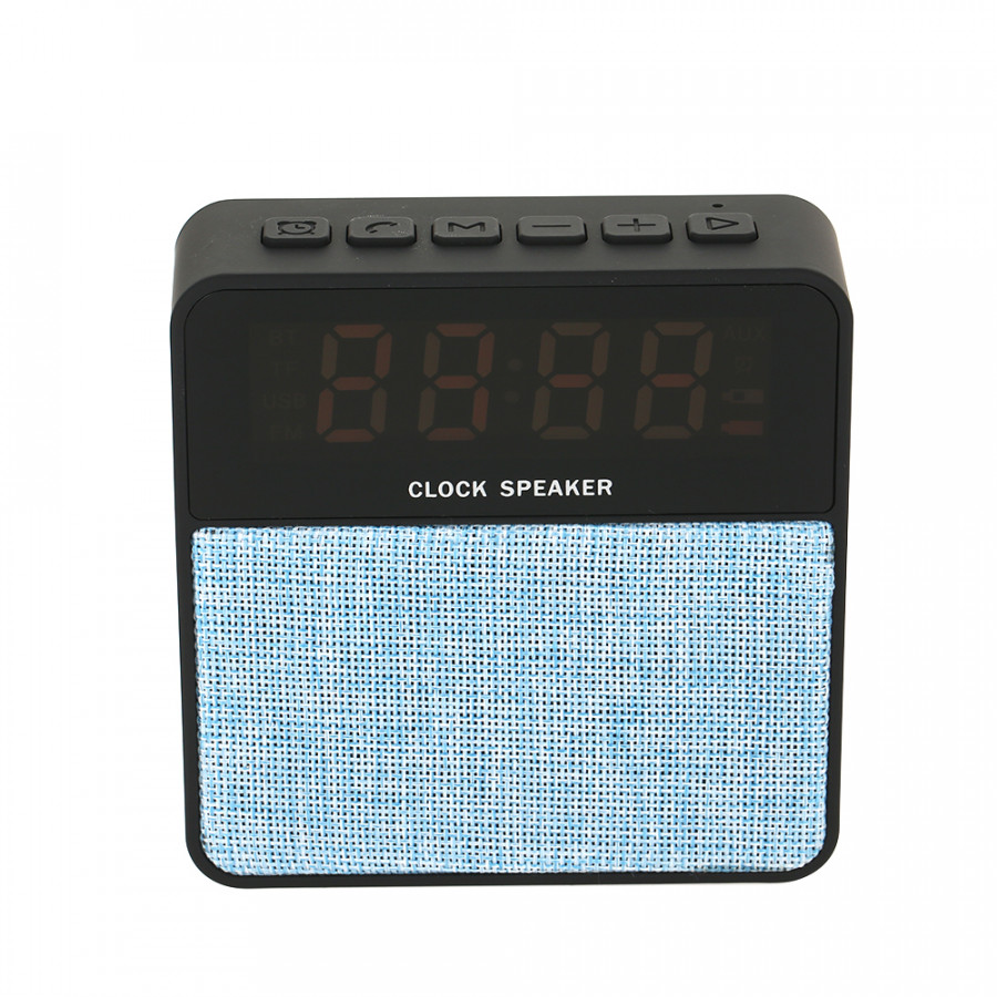 Portable Speaker Wireless BT Speaker Digital Display Alarm Clock FM Radio with TFCard Slot USB Port AUX-IN for Smartphone Laptop