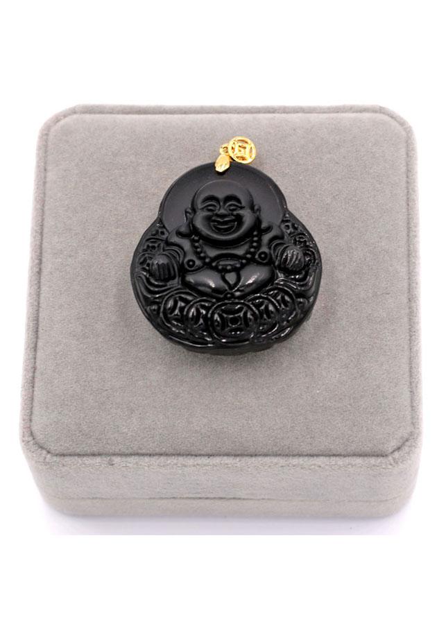 Mặt dây chuyền Phật Di lặc đá thạch anh - Mặt Phật đá phong thủy - Đem lại sức khỏe, may mắn, bình an