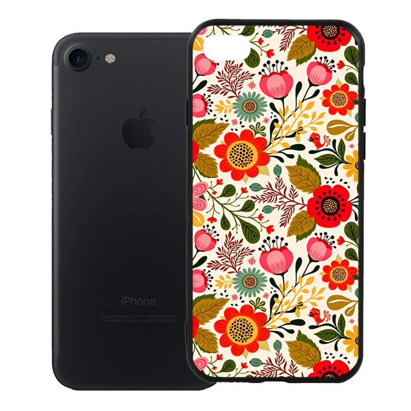 Ốp Lưng Viền TPU Cao Cấp Dành Cho iPhone 7 - Flower 04