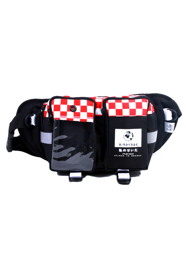 Túi bao tử Checker Board đỏ
