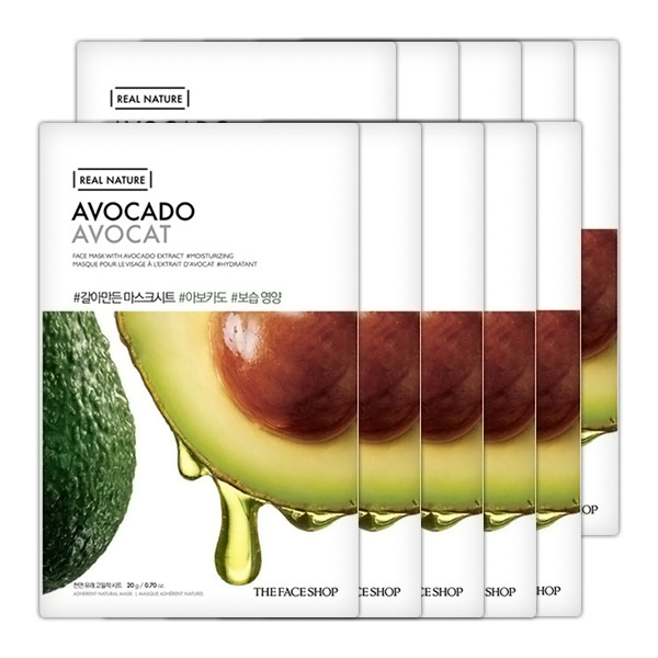 Combo 10 Mặt Nạ Giấy The Face Shop Real Nature Avocado Face Mask (20g)