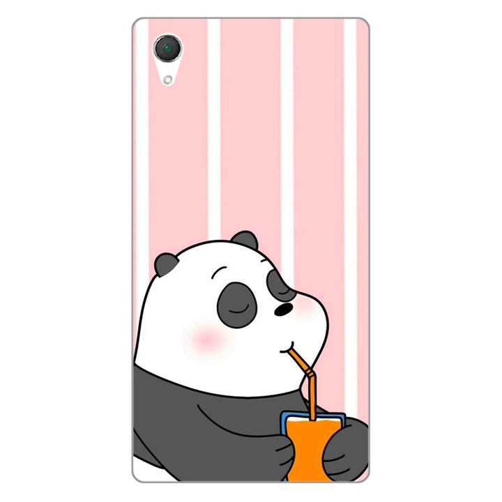 Ốp lưng dẻo Nettacase cho điện thoại Sony Z1 _0399 PANDA06 - Hàng Chính Hãng