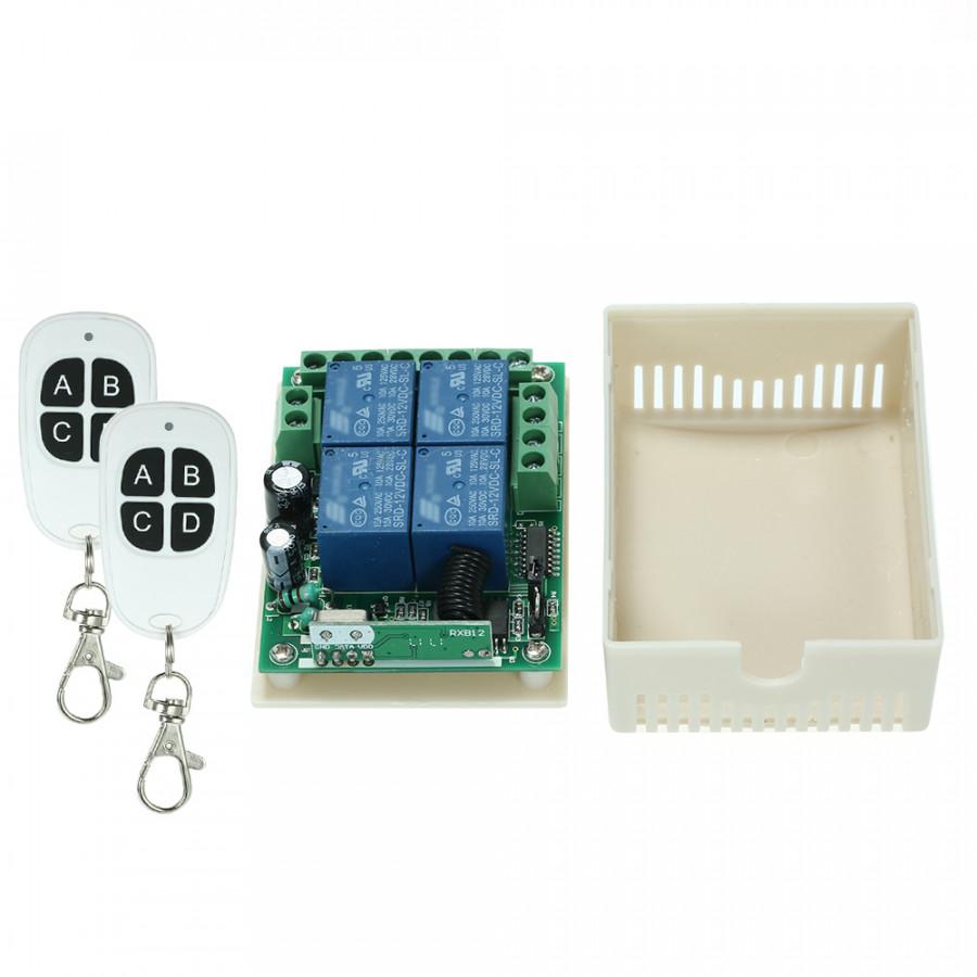 433Mhz DC 12V 4CHUniversal Relay Wireless RF Remote Control Switch Receiver Module and 2PCS 4 Key RF 433 Mhz - 2370406 , 5401938910013 , 62_15520904 , 411000 , 433Mhz-DC-12V-4CHUniversal-Relay-Wireless-RF-Remote-Control-Switch-Receiver-Module-and-2PCS-4-Key-RF-433-Mhz-62_15520904 , tiki.vn , 433Mhz DC 12V 4CHUniversal Relay Wireless RF Remote Control Switch
