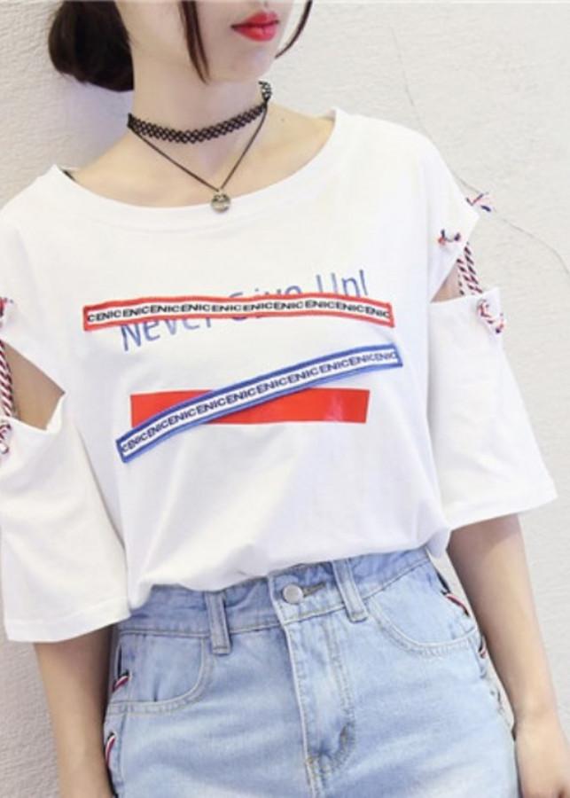 Áo thun nữ - thắt dây tay áo cá tính - 9612552 , 9698802981866 , 62_19444566 , 150000 , Ao-thun-nu-that-day-tay-ao-ca-tinh-62_19444566 , tiki.vn , Áo thun nữ - thắt dây tay áo cá tính