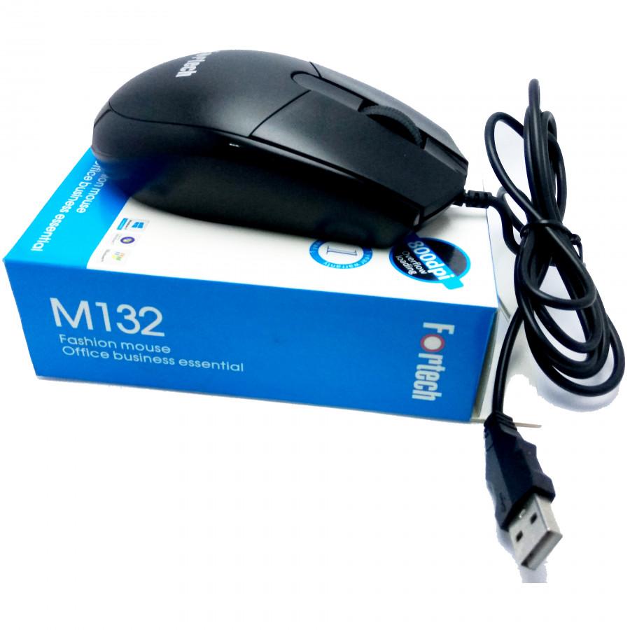 Chuột máy tính có dây Fortech M132 tặng lót chuột