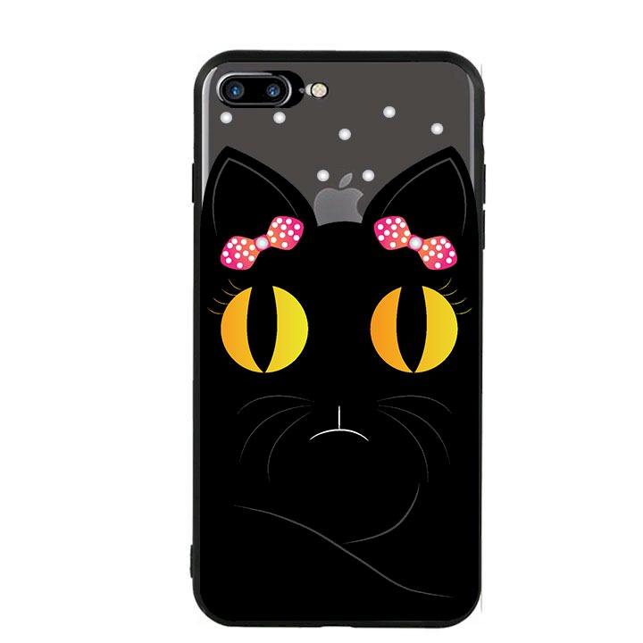 Ốp lưng viền TPU cho Iphone 7 Plus/8 Plus - Mèo Mun 02