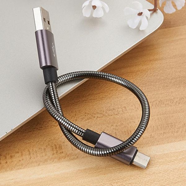 Cáp sạc USB-C (Type C) mạ kẽm loại ngắn 20cm