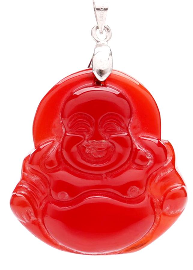 Mặt Dậy Chuyền Phật Di Lặc Mã Nảo Đỏ - Tặng Kèm Dây