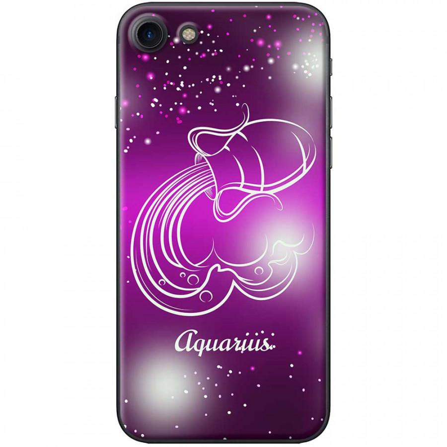 Ốp lưng  dành cho iPhone 7, iPhone 8 mẫu Cung hoàng đạo Aquarius (hồng)