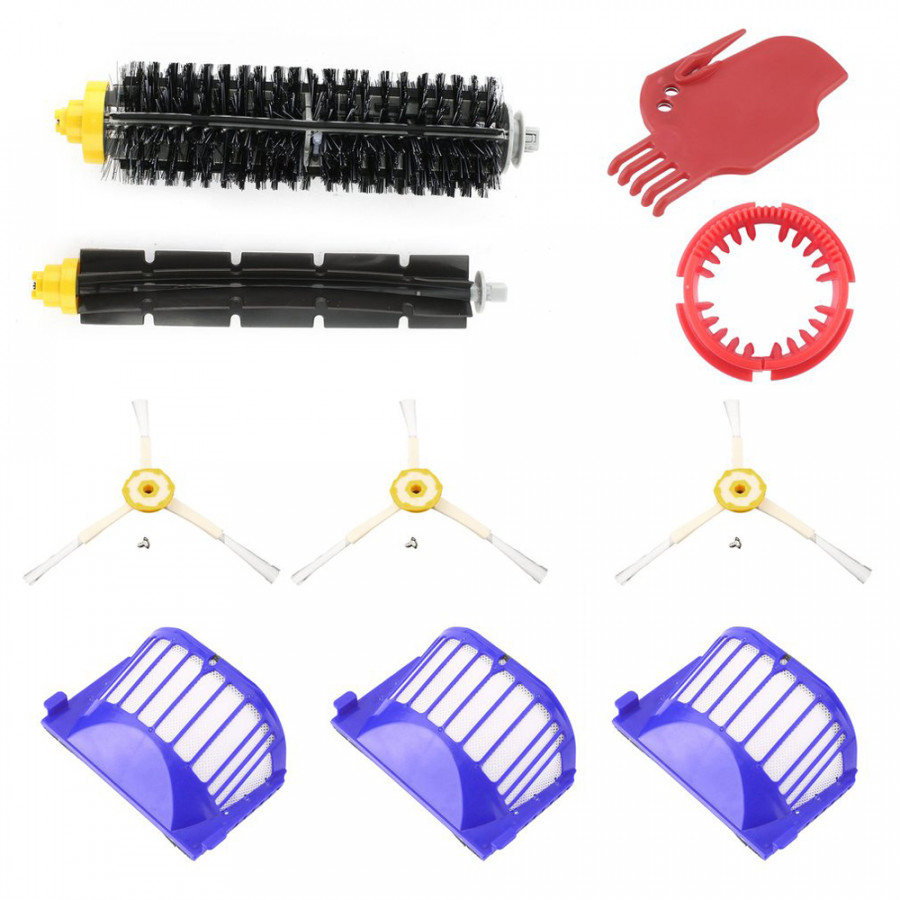 Replacement Parts Side Brushes + Filters + Bristle Brushes + Flexible Beater Brushes + Scraper