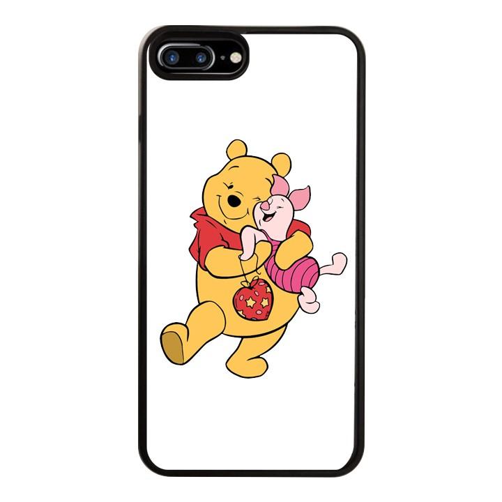 Ốp Lưng Kính Cường Lực Dành Cho Điện Thoại iPhone 7 Plus / 8 Plus Gấu Pooh Mẫu 3