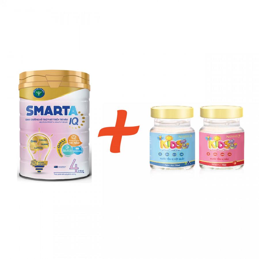 Sữa bột Smarta IQ 3 hoặc 4 (900g) - Tặng 02 lọ yến sào Nunest Kids - 2324894 , 4313948850832 , 62_14991184 , 310000 , Sua-bot-Smarta-IQ-3-hoac-4-900g-Tang-02-lo-yen-sao-Nunest-Kids-62_14991184 , tiki.vn , Sữa bột Smarta IQ 3 hoặc 4 (900g) - Tặng 02 lọ yến sào Nunest Kids