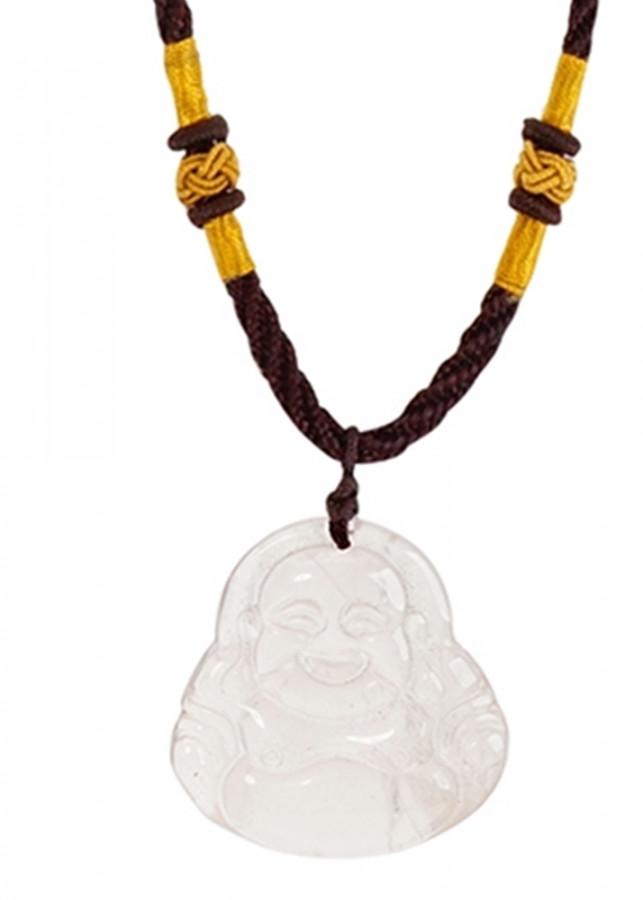 Vòng Cổ Phật Di Lặc Thạch Anh Hồng Tự Nhiên