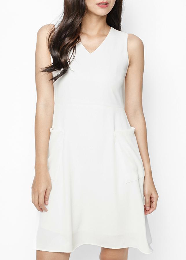 Đầm Nữ Xòe Mint Basic - Trắng