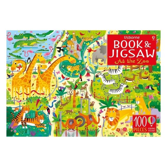 At The Zoo: Usborne Book  Jigsaw