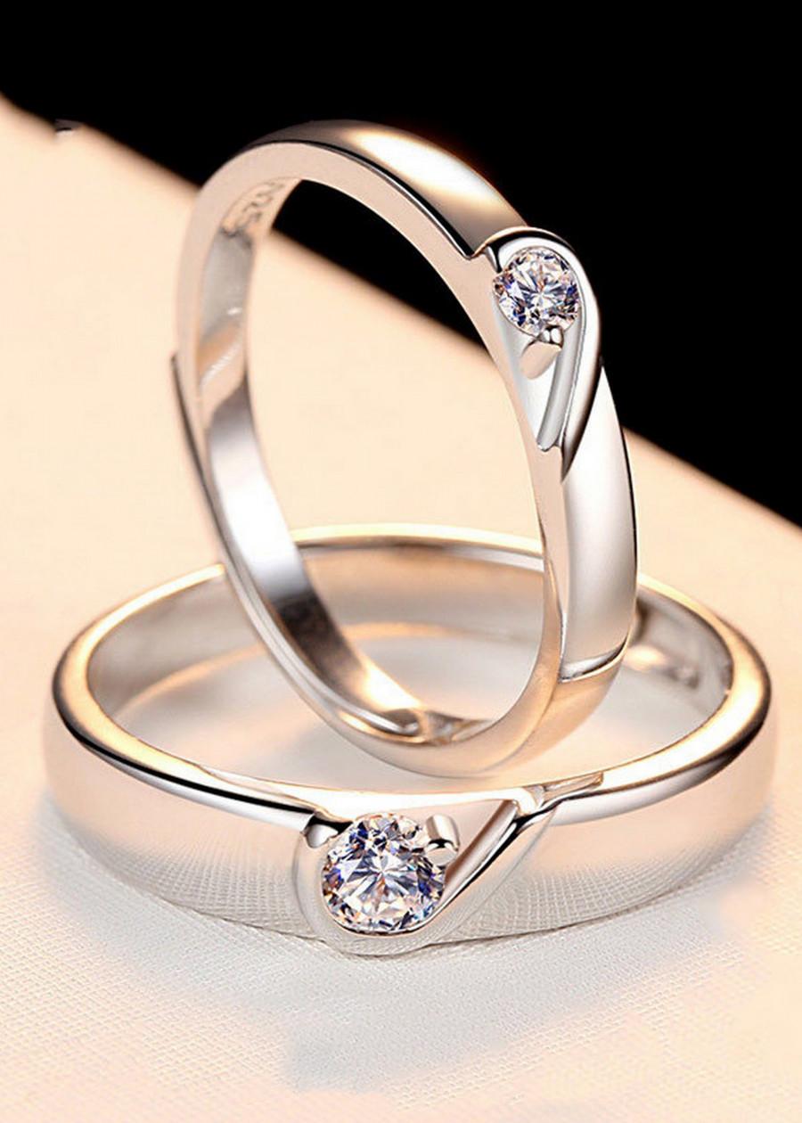 Nhẫn đôi tình nhân Bạc 925 tặng kèm hộp nhung - RC07