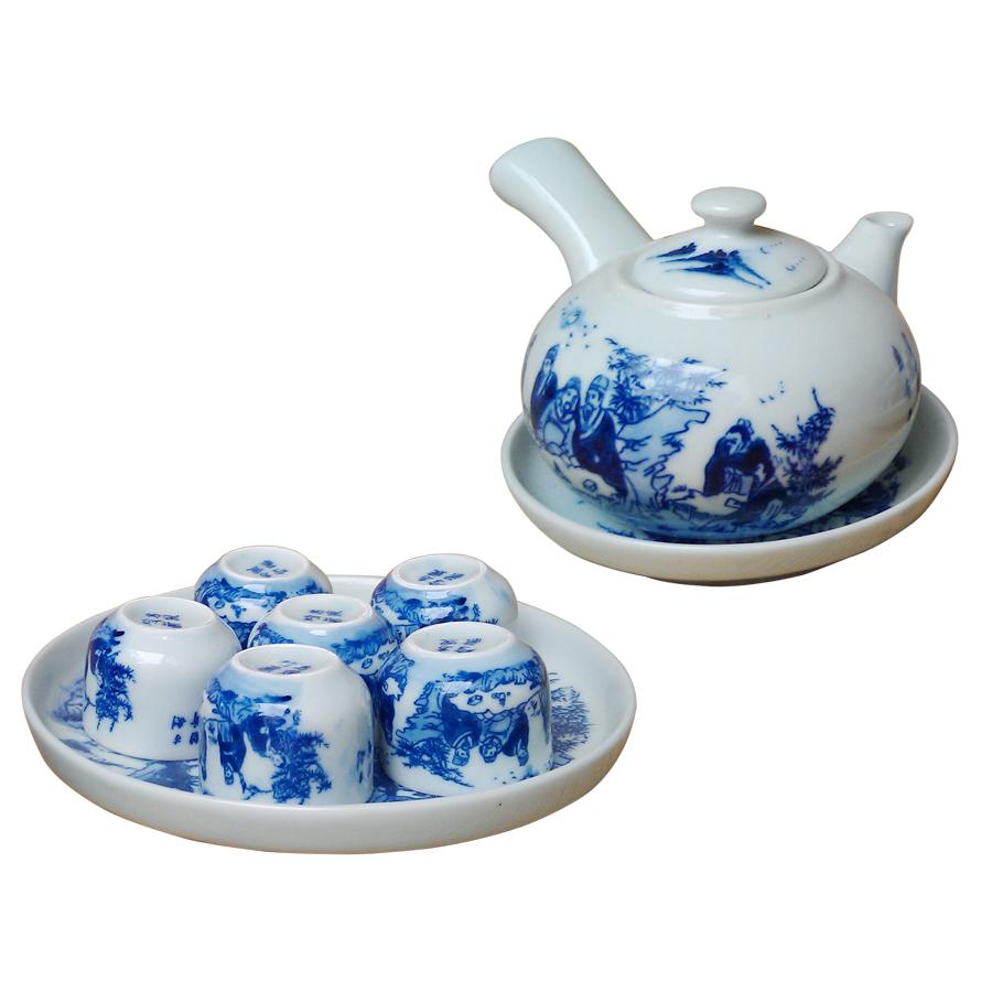 Bộ ấm chén men lam quai ngang Trúc Lâm Thất Hiền chính hãng gốm sứ Bát Tràng - bộ bình uống trà cao cấp - 811892 , 6184273630417 , 62_14706683 , 620000 , Bo-am-chen-men-lam-quai-ngang-Truc-Lam-That-Hien-chinh-hang-gom-su-Bat-Trang-bo-binh-uong-tra-cao-cap-62_14706683 , tiki.vn , Bộ ấm chén men lam quai ngang Trúc Lâm Thất Hiền chính hãng gốm sứ Bát Tràng