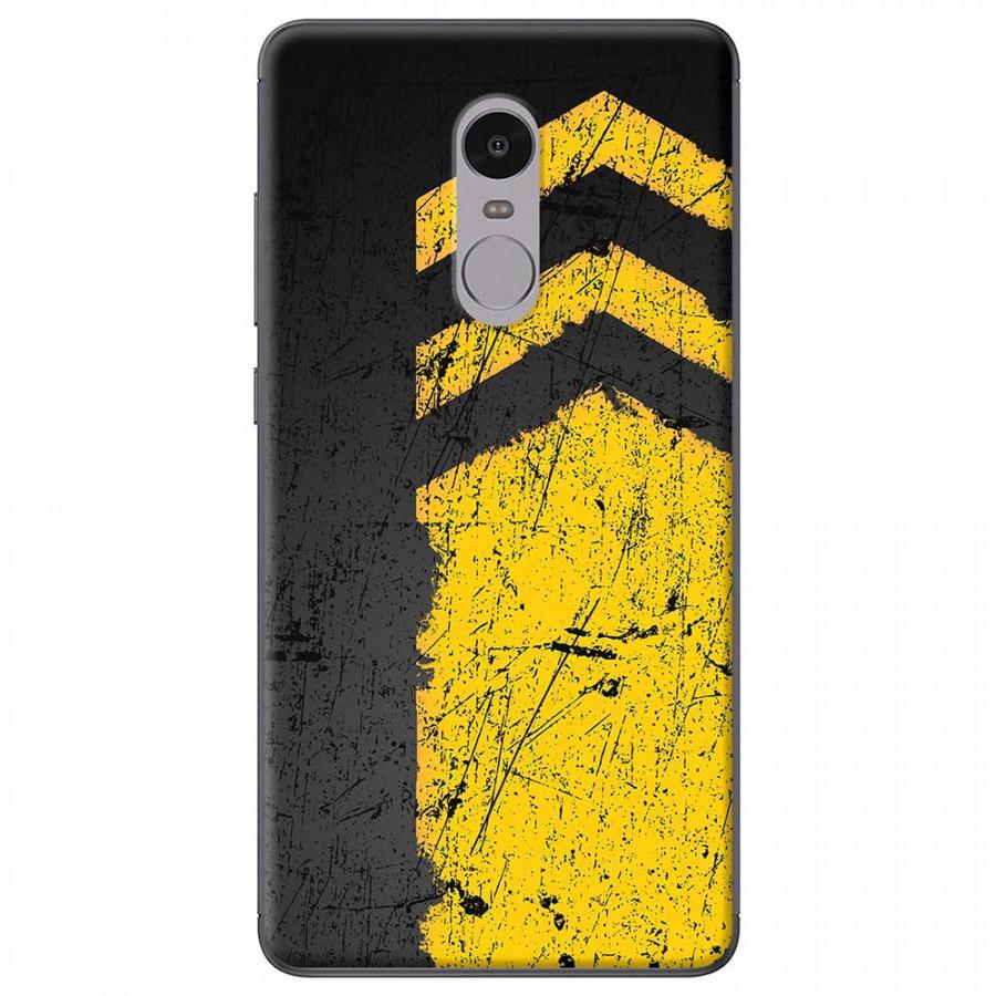 Ốp lưng dành cho Xiaomi Redmi Note 4X mẫu Sọc vàng nền đen