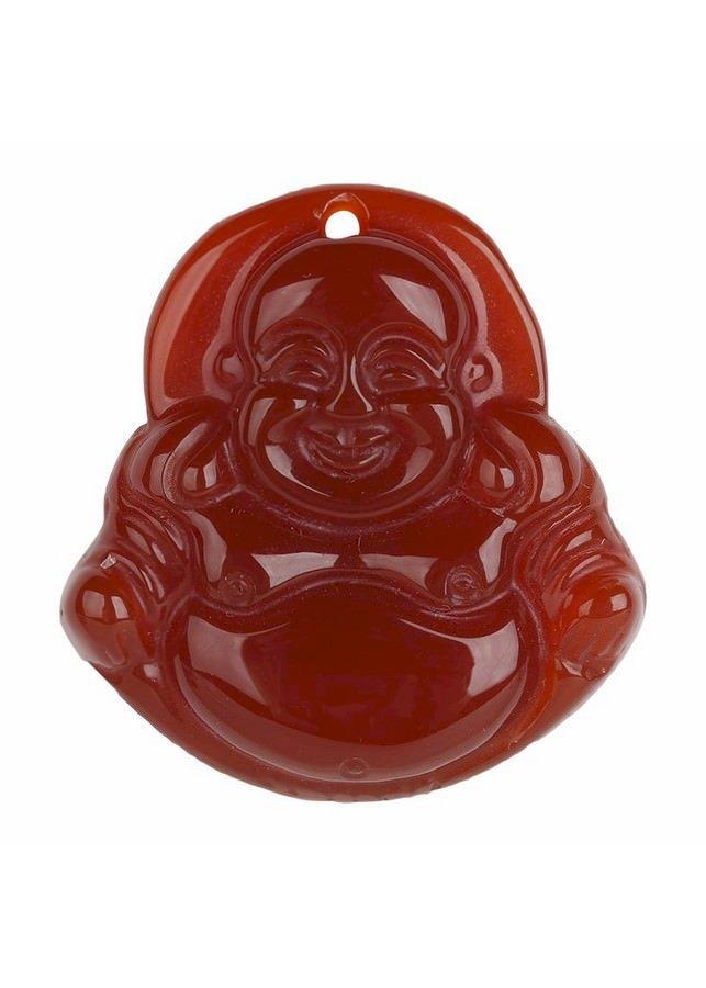 Dây Đeo Và Mặt Phật Di Lặc  Mã Não - Đỏ (2 x 2 x 0.3 cm)