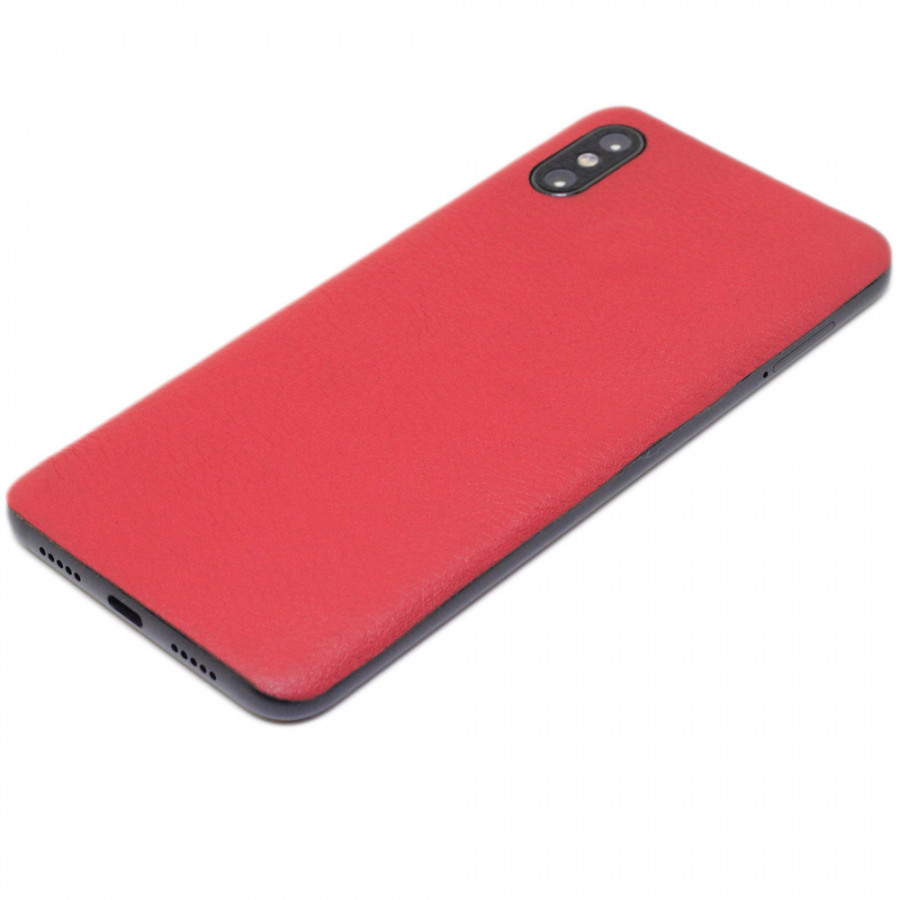 Ốp da dán cho Xiaomi Mi8 Pro - Da thật nhập khẩu cao cấp - Davis (Đỏ mịn)