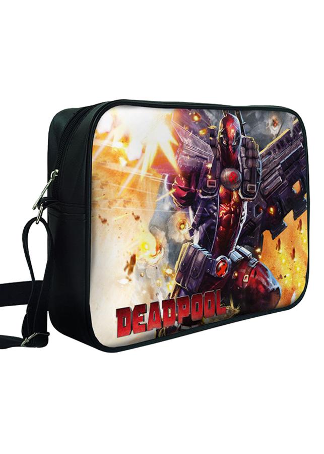 Túi Đeo Chéo Hộp Unisex In Hình Deadpool Chiến Đấu - TCFF314