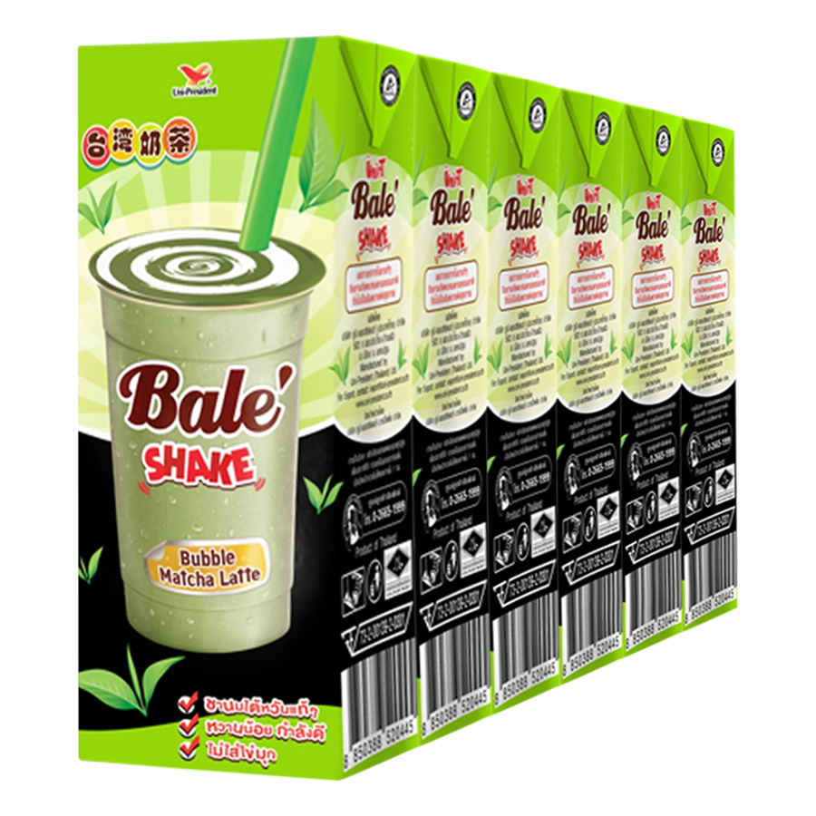 Lốc 6 Hộp Trà Sữa Bale Shake Bubble Matcha Latte (230ml/Hộp) - 7841641 , 8850388520445 , 62_275239 , 84000 , Loc-6-Hop-Tra-Sua-Bale-Shake-Bubble-Matcha-Latte-230ml-Hop-62_275239 , tiki.vn , Lốc 6 Hộp Trà Sữa Bale Shake Bubble Matcha Latte (230ml/Hộp)