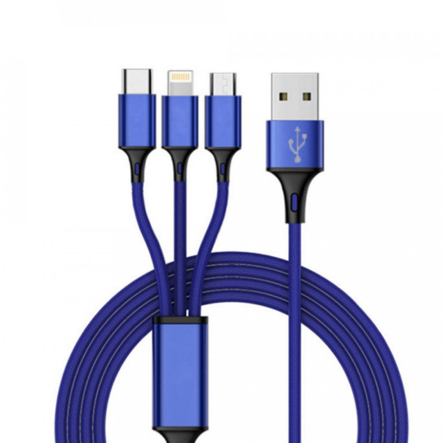 Fast USB Charging Cable Universal 3 in 1 Multi Function Cell Phone Cord Charger