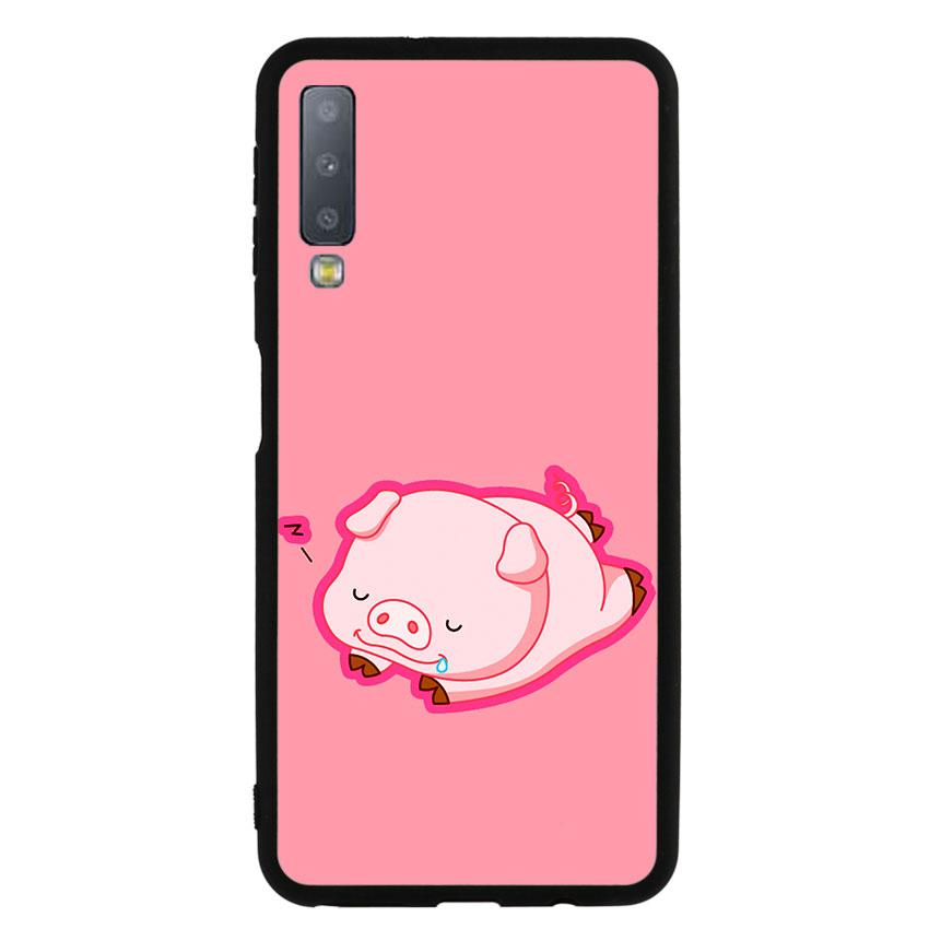 Ốp lưng nhựa cứng viền dẻo TPU cho điện thoại Samsung Galaxy A7 2018 - Pig 2019 Mẫu 3