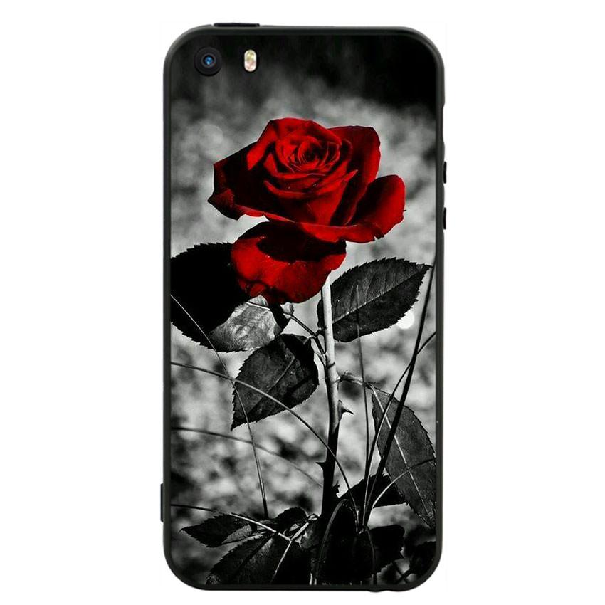 Ốp lưng viền TPU cho điện thoại Iphone 5 -Rose 08