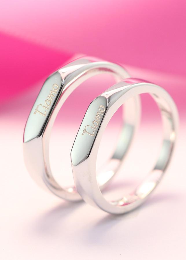 Nhẫn đôi bạc nhẫn cặp bạc đẹp tiamo ND0344