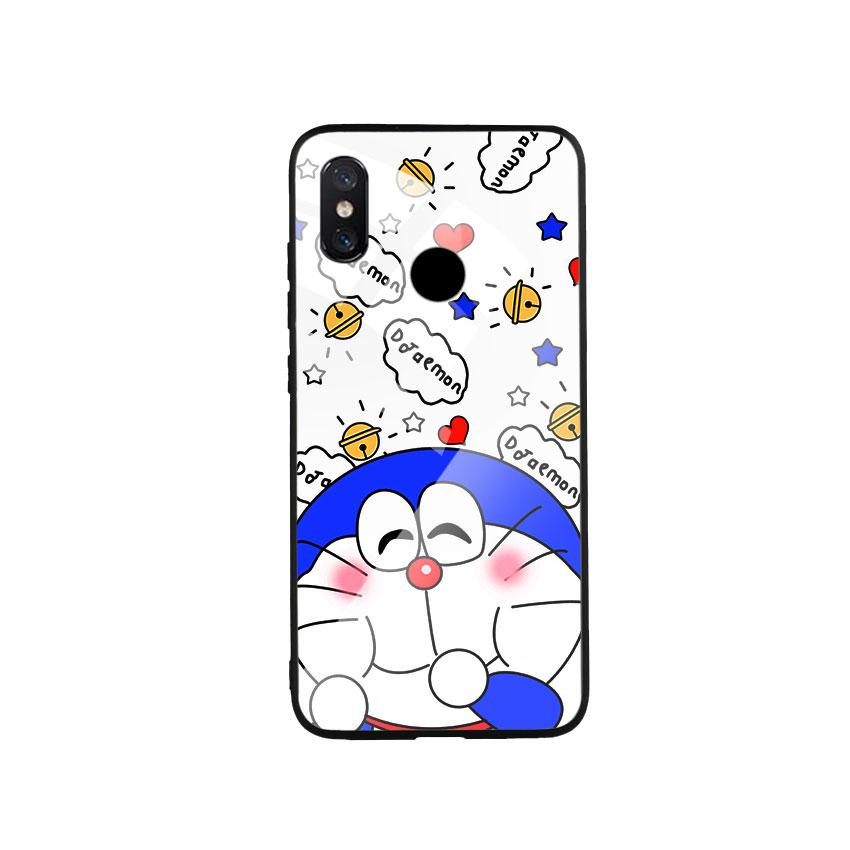 Ốp Lưng Kính Cường Lực cho điện thoại Xiaomi Mi 8 - Doremon 03