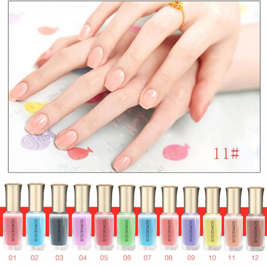 Jelly Nail Polish Uv Nail Gel Fashion 12 Colors Naked Series Soak Off Beauty #12
